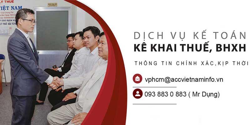 Công ty dịch vụ kế toán trọn gói - ACC Việt Nam